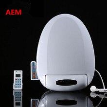 Smart Heated Toilet Seat Intelligent Bidet Toilet Seats WC Sitz Automatic Toilet Lid Cover Remote & Panel Control 50CM*39CM