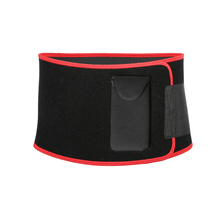 New black slimming belt portable phone bag sport yoga fitness waist back support belt super nylon hasp fajas neopreno cinto(China)