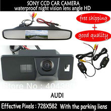 SONY CCD HD Wireless Car RearView Backup Camera with mirror rear view monitor for AUDI A1 A4 (B8) A5 S5 Q5 TT / PASSAT R36 5D