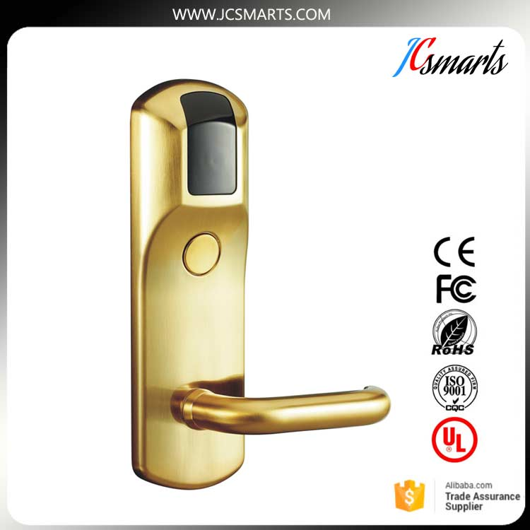 Keyless electric door lock digital RF card hotel lock <br>