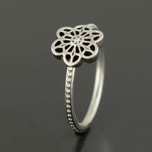 2016 Spring 925 Sterling Silver Rings Original Floral Daisy Lace Ring Jewelry For Women