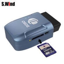 OBD II GPS Realtime Tracker Car Truck Vehicle Mini Tracking Device GSM GPRS GPS Tracker Android IOS Web System Blue