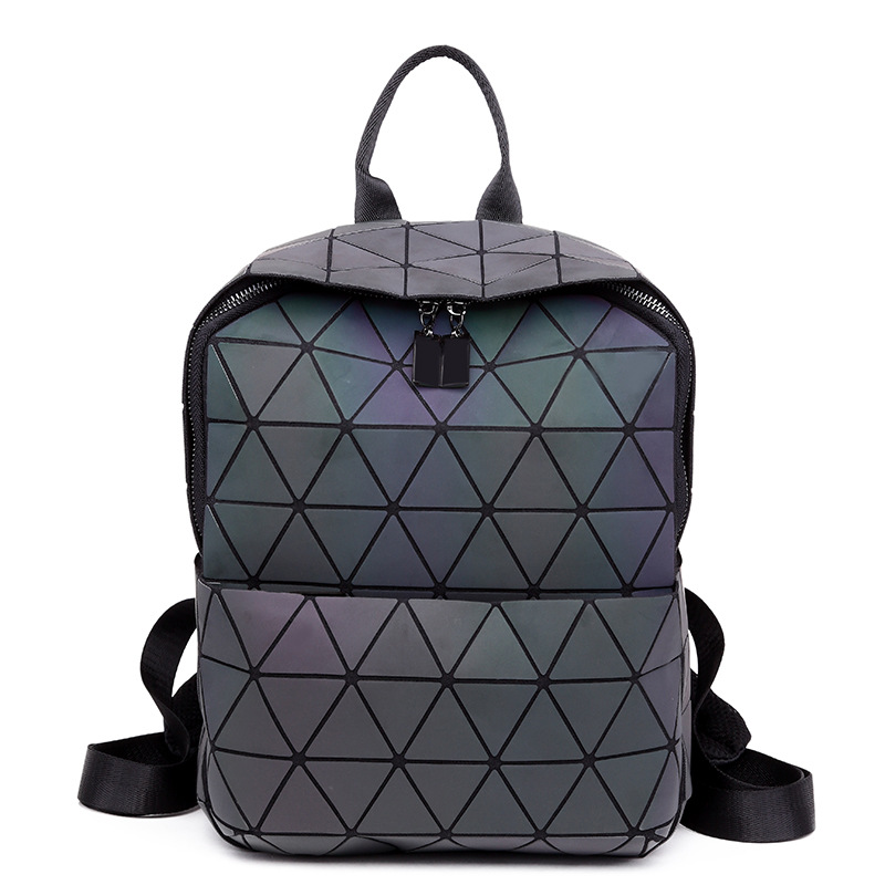 2018 Luminous Geometric Women Backpack Famous Brand Baobao Backpacks Female Mochila Escolar School Backpack For Girls book bag<br>