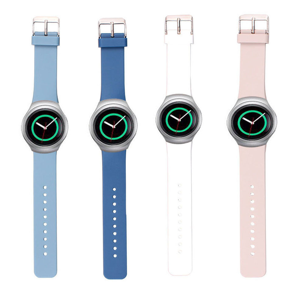 Luxury Silicone Rubber Wrist Watch Band Strap For Samsung Galaxy Gear S2 SM-R720 Wristband Watchband Accessory<br><br>Aliexpress