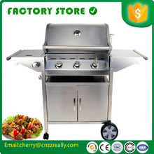 Free shipping by sea Commercial stainless steel Smoke-free barbecue pits door barbecue grill design stove(China)