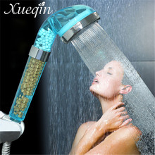 Xueqin Water Saving Shower Head Anion SPA Filtration Handheld Nozzle 2 Sizes Supercharger Shower Head Nozzle Bathroom Product(China)