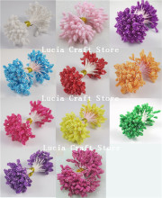 5mm hot sales multi colors options Foam flower stamen pistil cake decoration craft DIY 288pcs/lot 11070501(288)