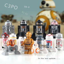 Single Sale 7 R2-Q2 Astromech Droid Building Blocks The Force Awakens Best Children Gift Toys(China)