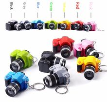 Creative Plastic Camera Toy Keychain LED Flashlight Keyring Gift key Holder Photographers' Best Handbags Cars Accessories