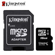 Original Kingston Memory Card Micro SD 16GB Class 4 Microsd TF Flash Card 16 GB Micro SD Card with Adapter for Digital Device