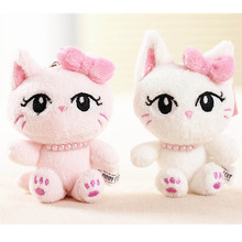 women cute animals  plush toys  doll  girls pink  mini soft  toy  Cat  Stuffed  Plush small  Pendant Toy  birthday Gifts   TO61
