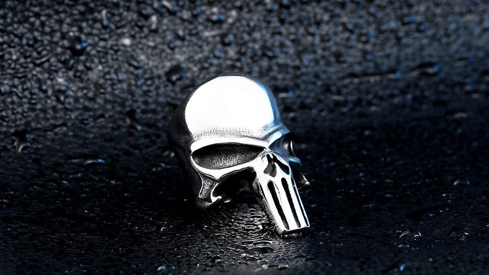 แหวนโคตรเท่ห์ Code 012 แหวน Punisher สแตนเลส 5