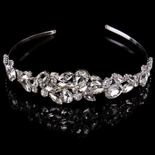 Women Crystal Crown new fashion Europe and the United States bride hair band wedding dress diadema headband bunny bridal tiara