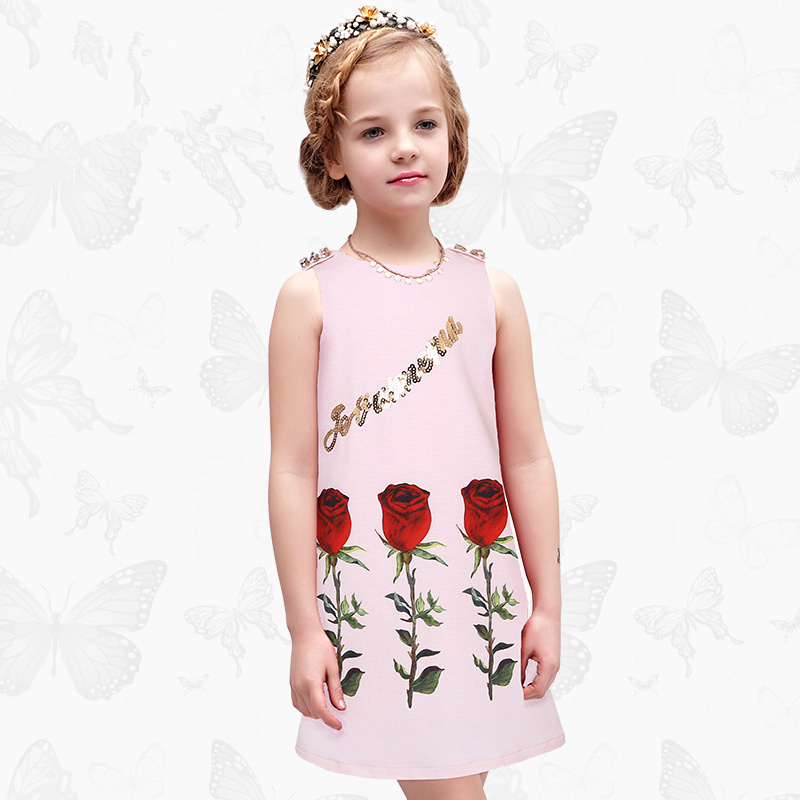 Girls Dress with Handmade Dragonfly 2017 Brand Princess Dress Long Sleeve Robe Fille Clothes Kids Dresses 51<br>