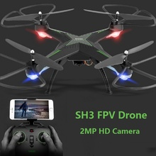 HR SH3 RC Drone with 2MP 720P Wifi FPV HD Camera 2.4G 4CH Headless Mode One Key Auto Returned Altitude Hold RC Quadcopter