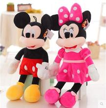 2pcs/lot 40cm  Lovely Mickey Mouse and Minnie Mouse Plush Toys Stuffed Cartoon Figure Dolls Kids Christmas Birthday gift
