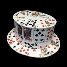 CARD FAN to Card Top Hat(Metal hinge version) ,Magic Tricks,Stage,Gimmick,Props,Comedy Illusion
