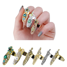 GENBOLI 12 Types Nail Ring Special Charming Design for Women Lady Female Metal Hollow Out Ring 2017 New Fashion Jewelry
