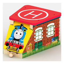 P121 Freeshipping Wooden track garage tunnel magnetic wooden Thomas locomotive station for wood and electric Thomas(China)