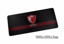 High-end msi mouse pads 900x400x3mm pad to mouse notbook computer mousepad Popular gaming padmouse gamer to keyboard mouse mat(China)