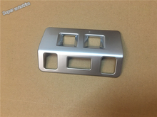 New Style ! For Subaru Forester 2013 2014 ABS Chrome Headlight Lamp Switch Button Cover Interior Cap Trim(China)