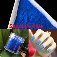 10g/bottle 3D Nail Art Glitter Sapphire blue Nail Decoration Fuzzy Flocking Manicure Velvet Powder Nylon Powder For Nail Tips 17(China)