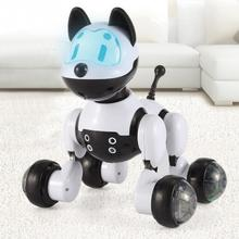 NEW PINK/BLACK SMART KIDS TOY DOG/CAT INFRARED REMOTE CONTROL SERIES RC CUTE ROBOT Can Sing(China)