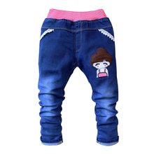 Summer Kids Girl Pants Cartoon Children Baby Clothes Toddler Girls Trousers Fashion Spring Baby Jeans for 2-4 Years Old