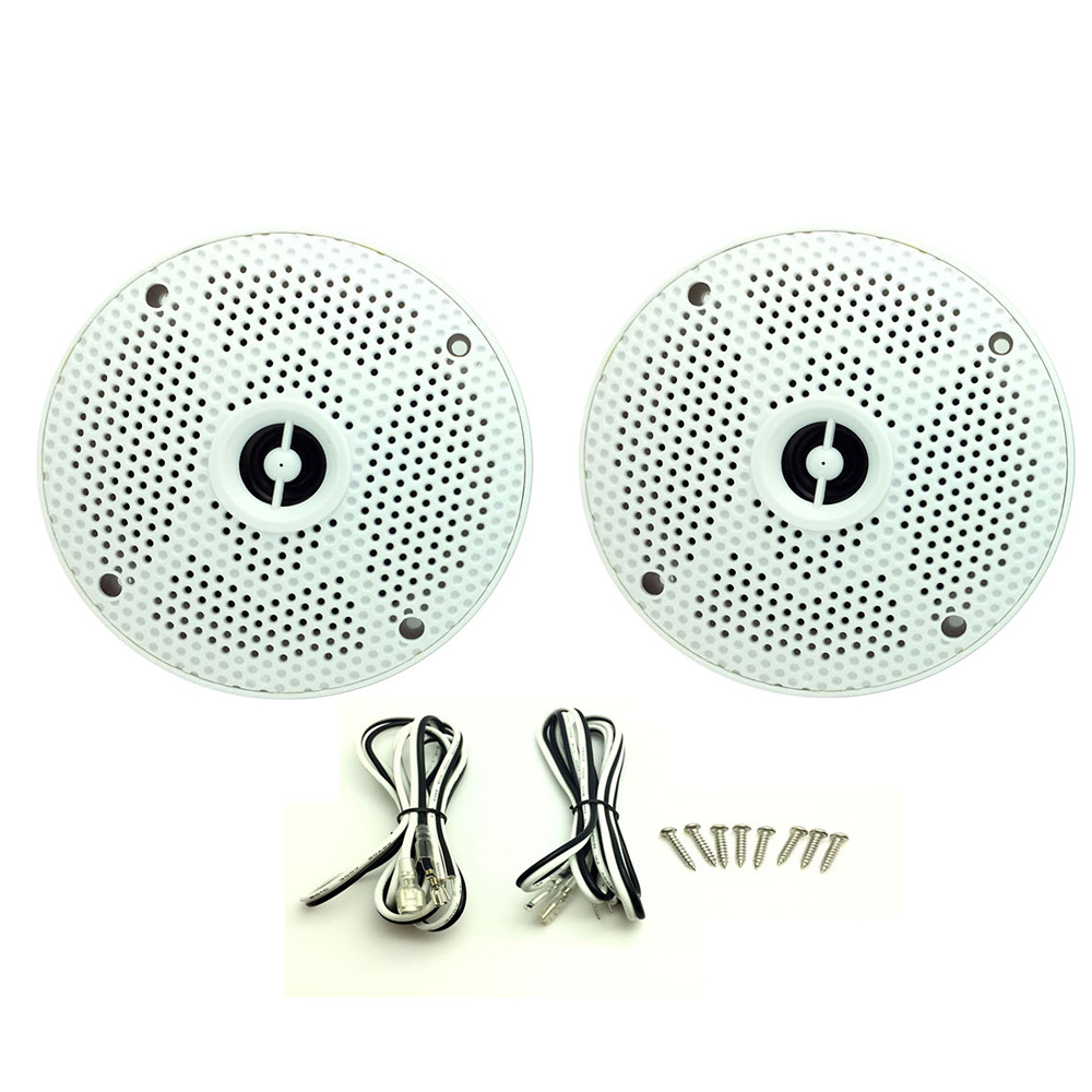 "2 Pairs Moisture Resistant Speakers 8 Ohm 80W 5/"" Boats Kitchen Bathroom Sauna"