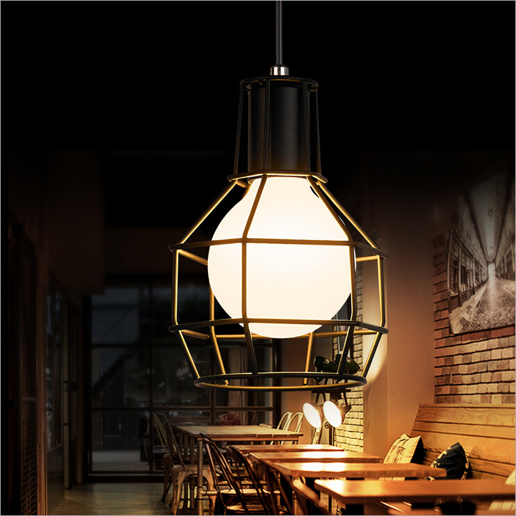 Nordic LOFT Northern Italy retro personality creative study bedroom hallway small restaurant cable chandelier,iron lamp lighting<br><br>Aliexpress