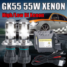 12V 55W xenon H4 high low Bixenon lamp kit HB2 9003 9004 9007 9008 H13 high low light 4300K 6000K 8000K H4 bi xenon kit