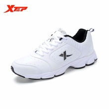 XTEP Brand Light Running Shoes Men Leather Rubber Sneakers Athletic Sports Shoes Outdoor Chusion Trainers Shoes 987419119685
