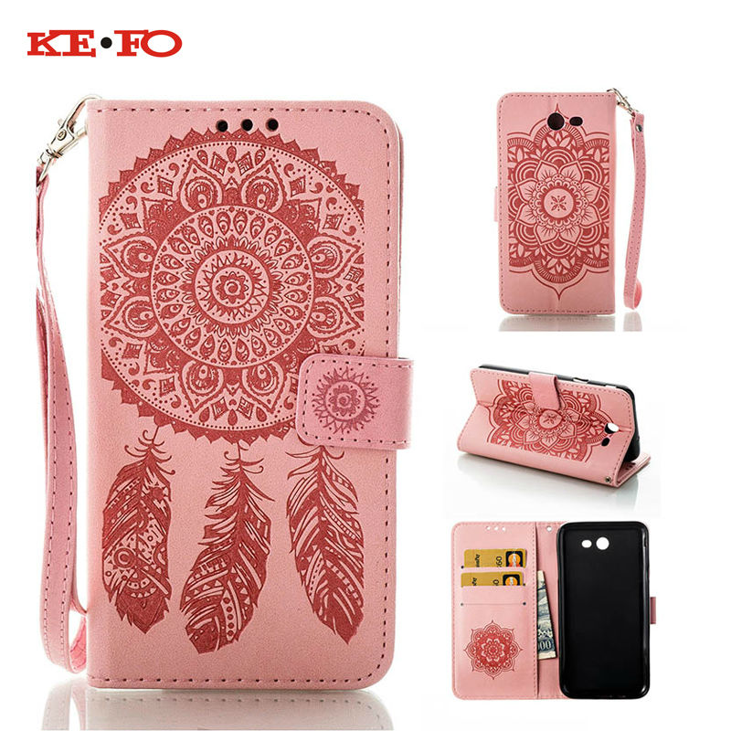 KEFO Campanula Flower Phone Case Samsung Galaxy J3 J5 A3 A5 2016 2017 Book style Folio wallet Card Holder Back Cover Coque  -  buybest store
