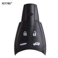 KEYYOU Remote Key Shell Case with LOGO For SAAB 9-3 9-5 93 95 2009 4 Buttons With Soft Rubber Button DKT0187