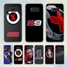 jorge lorenzo lorenzo 99 Logo red X design hard transparent Case for Samsung Galaxy S8 S8Plus S6 S7 edge note 5 4