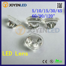 200pcs/lot light transmittance 92% High Power led lenses, 20mm pmma optical led lens angle 45(5 10 15 30 60 90 120) degree