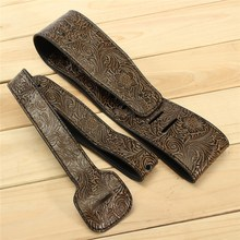 PU leather Embossed Guitar Strap Belt Electric Guitar Acoustic Guitar Folk Guitar Bass Strap