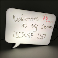 Leedome Newest A4 Lightbox Lamp Handwriting Lights LED Sign Writing Board With 3 Colour Pen for Coffee Shop Table Wall Decor Led