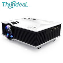 UNIC UC46 Newest 1200Lumens 2.4G WIFI Mini Projector UC40 Upgrade HDMI AV USB SD IR Portable Home Theater Beamer Multimedia