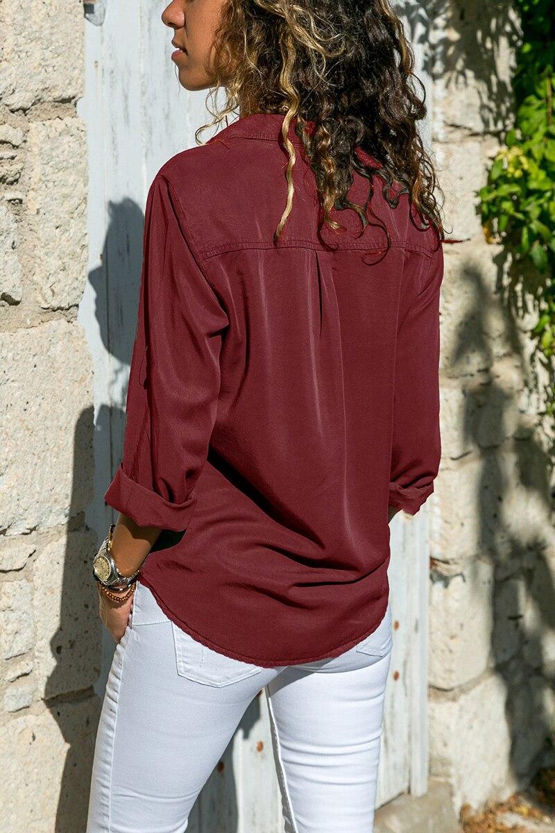 office blouse women plus size 5XL long sleeve blusas mujer de moda 2018 tallas grandes spring autumn shirt top women blouse2