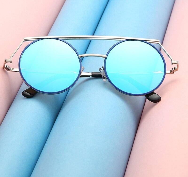 2017 New Fashion Sunglasses Europe And the United States Trend Sunglasses Round Box Sunglasses ladies Retro Sunglasses