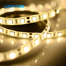 LUCKYLED Led strip Waterproof IP45 3528 5050 SMD 60LED/M DC12V Flexible LED Light white warm white green red blue yellow 5m/roll(China)