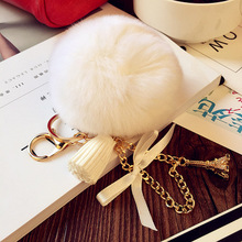 Rabbit hair bulb tower accessories fashion handbags accessories plush key chain pendant