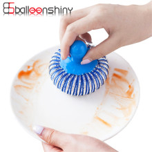 Cleaning Brush Dust Brush Collector Round Shape Cleaner Duster Kitchen Tool Random Color