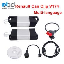 2018 Professional Renault Can Clip Newest V174 Diagnostic Tool Super Renault Scanner Can Clip Multi-Language For Renault(China)