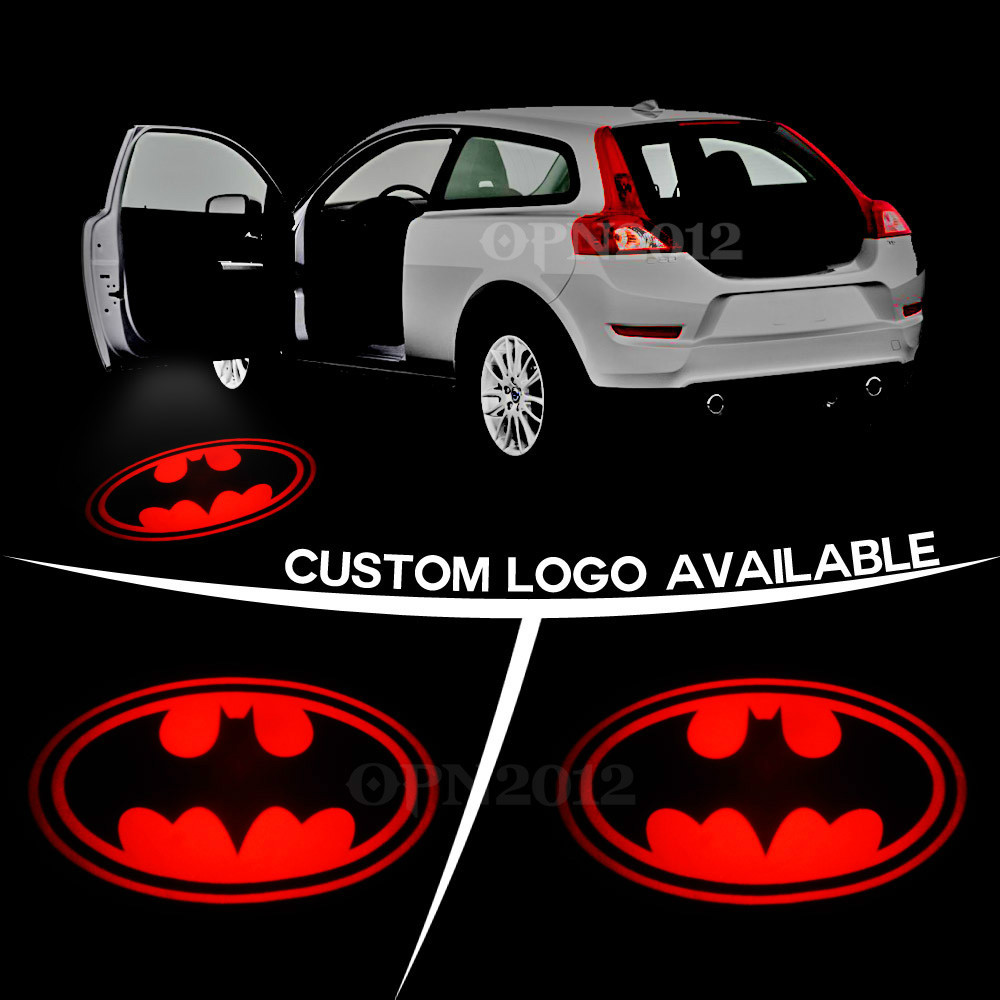 Dark Knight Batman Red Logo Laser Projector Welcome Ghost Shadow Car Door Courtesy LED Puddle Light For Chevy BMW VW 2472<br><br>Aliexpress