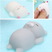 2017 new novelty gift Big Little cat Vent Ball Action Figure Toy Soft Robot Doll Relax Squeeze Stress Relief