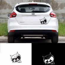 2017 Surprised Cat Reflective Tape Waterproof Car Sticker Vinyl Laptop Graphics Window Decal Decor auto Scratch Cover Stickers