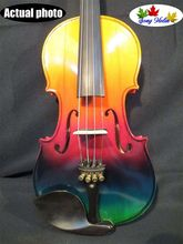 Colorful electric & acoustic violin 4/4 good sound #9069(China)