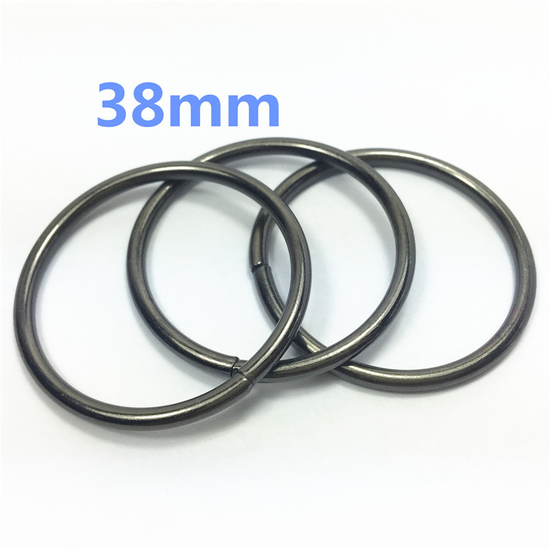 17- 38mm gunblack  Metal O Ring Backpack connector Harness Rings Bag Parts Accessories